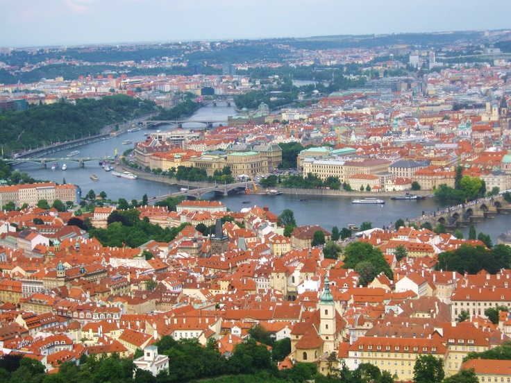 Prague from Petrin Tower