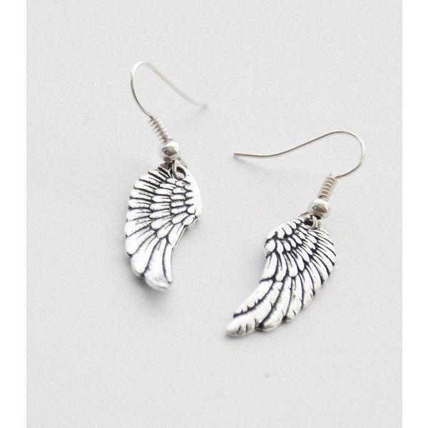 Silver Wing Earrings Angel Earrings Wing Earrings Wings Earrings Bird... ($21) ❤ liked on Polyvore featuring jewelry, earrings, accessories, decorative combs, hair accessories, silver, silver feather jewelry, wing earrings, feather dangle earrings and wing jewelry