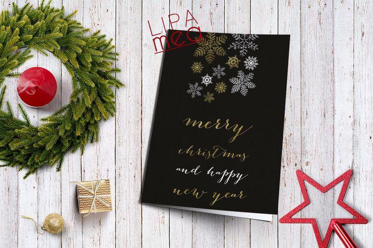 Holiday Card Printable, Christmas Card, Snowflakes Holiday Card, Printable Holiday Card, Happy Holidays Card, Modern Holiday Card, Digital - pinned by pin4etsy.com