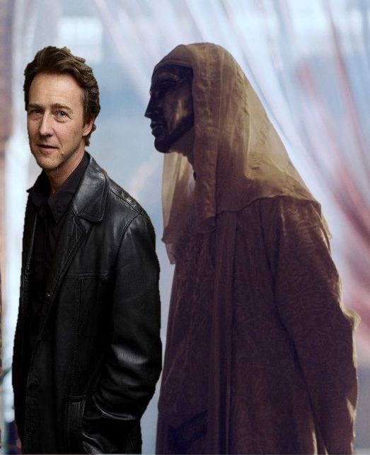Edward  Norton won critical praise for his role as King Baldwin IV of Jerusalem, in Kingdom of Heaven.