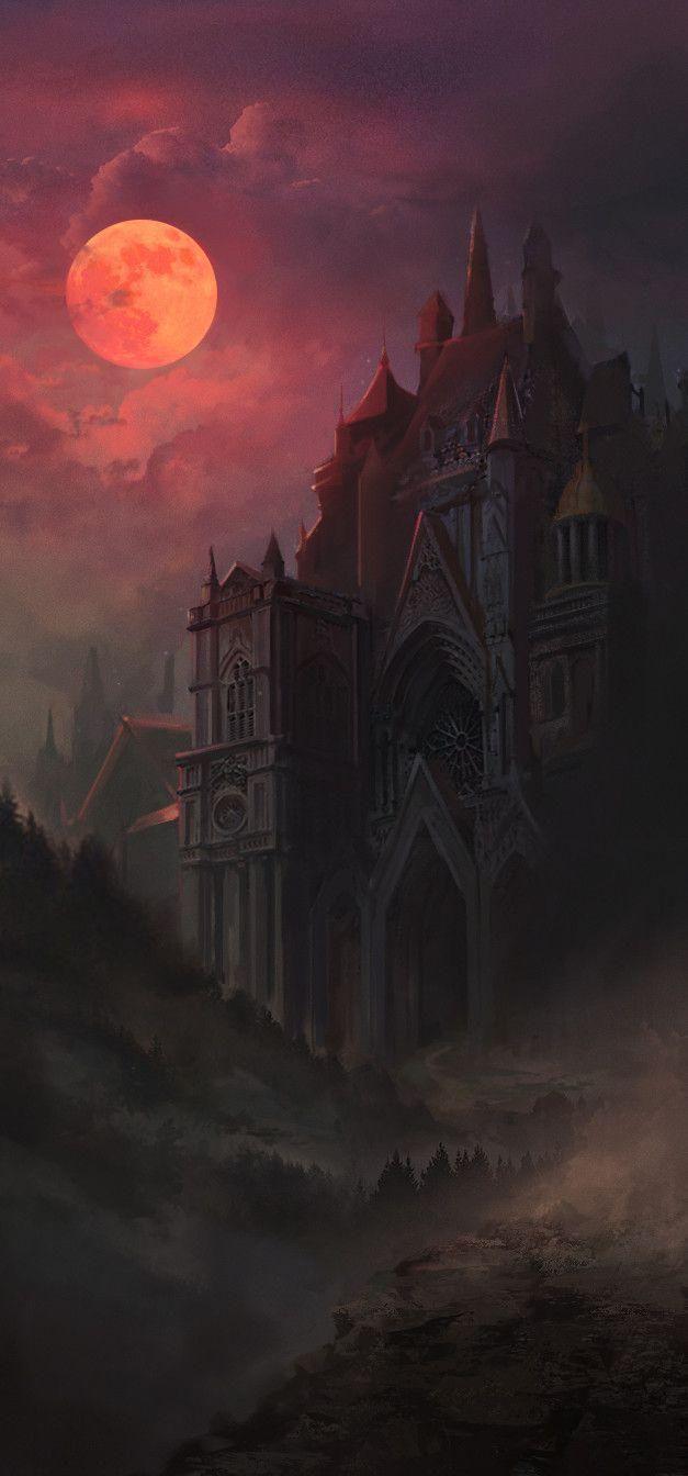 Gothic castle Lana Monad : ArtStation Gothic castle Lana Monad #Gothic # castle #Lana in 2020 Gothic images Gothic castle fantasy Gothic castle