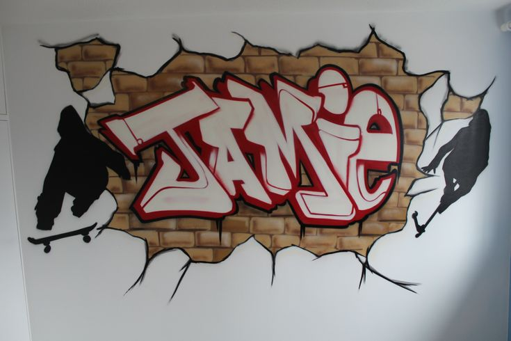 Graffiti Murals for Bedrooms | Brick Wall Graffiti Bedrooms