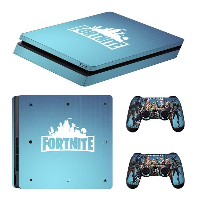 Data Frog Fortnite Stickers Ps4 Slim Console Skin Cover