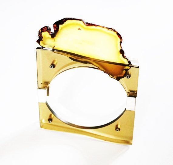 Luxury Plexiglass Baltic Amber Sterling by APPUSSTUDIOJEWELLERY