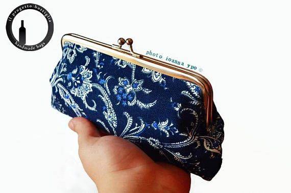 Kiss lock wallet-Kisslock coin purse-Thin wallet women-Coin