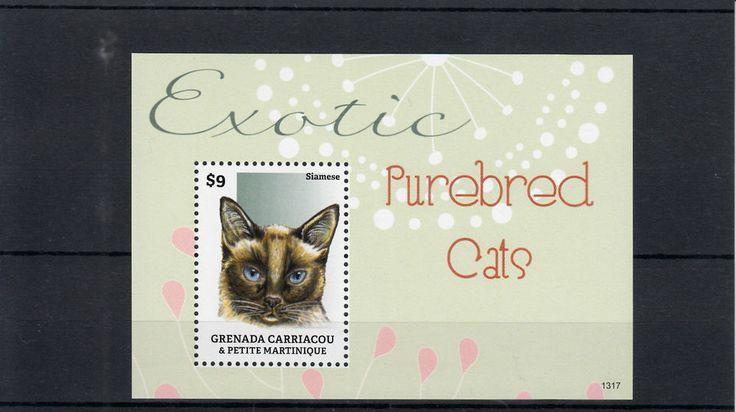 Grenadines Grenada 2013 MNH Exotic Purebred Cats I 1v S/S Pets Siamese Animals