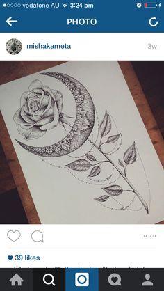 Moon tattoo inspo