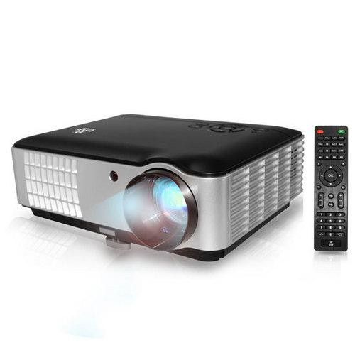 Hi-Res Home Theater Multimedia HD Projector 1080p Support 2800 Lumen Brightness USB Flash Reader eReader Text Projection Ability