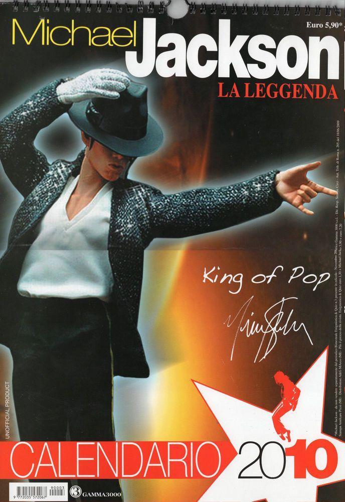 CALENDARIO 2010  MICHAEL JACKSON  , SOLO 9,99€ NUOVO LA LEGGENDA , IL RE DEL POP