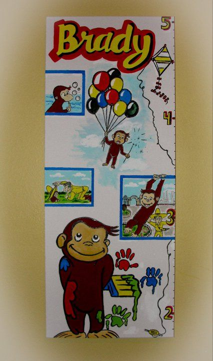 42 best images about sherri buchanan childrens art on for Curious george mural