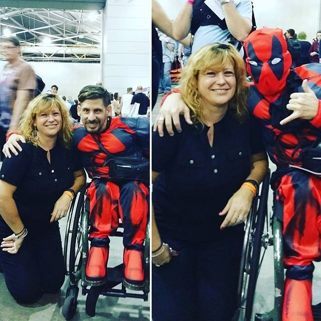 @ the #Brisbane #Supanova2016 this year I met this gentleman, a really nice guy, & hey I gotta say #deadpool is one of my favorite #Marvel #characters. #Cosplayers, #Cosplay #costumes.