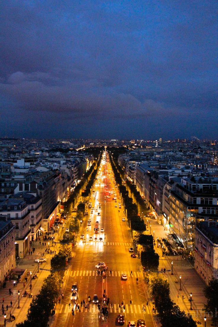 Avenue des Champs-Élysées, Paris, France. One of their famous streets. Shop till you drop!