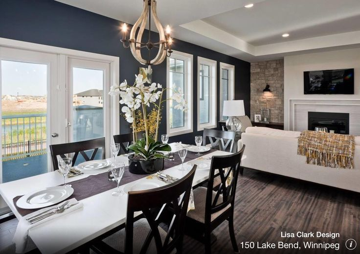 colour throughout is BM Chantilly Lace. Trim is BM Balboa Mist. Navy Accent wall is BM Hale Navy.