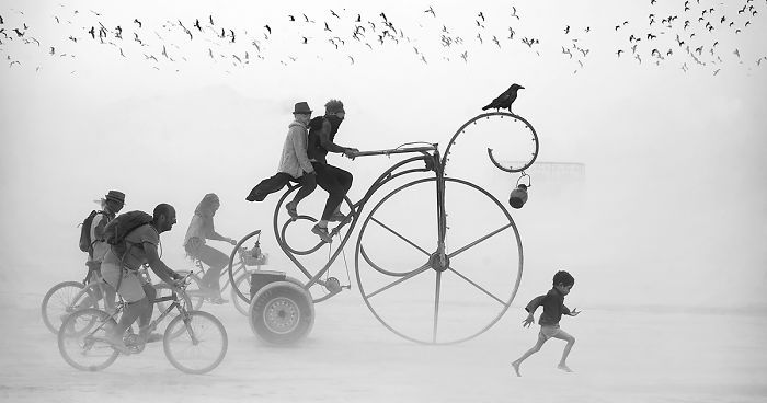 Surreal Photos Of Burning Man By Victor Habchy | Bored Panda