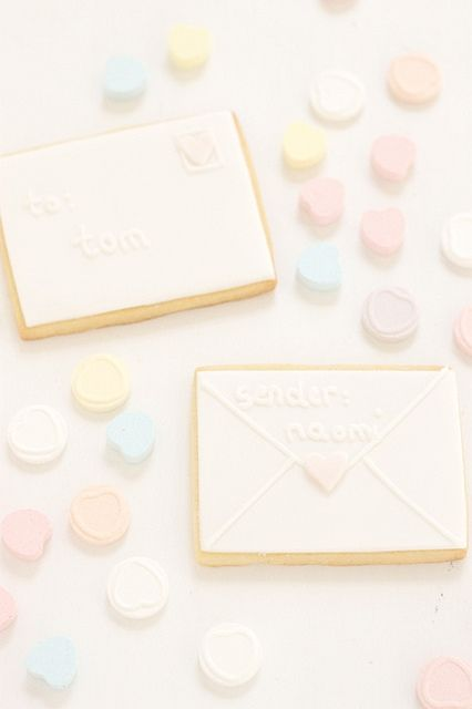 valentines love letter cookies by hello naomi, via Flickr