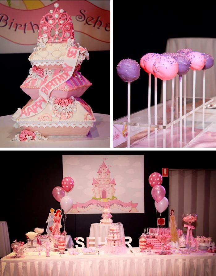 Princess Themed 1st Birthday Party Lots of Cute Ideas via Kara's Party Ideas | KarasPartyIdeas.com #PrincessParty #DisneyPrincessParty #PrincessParty #partyideas