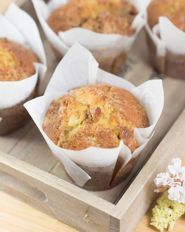 Objetivo: Cupcake Perfecto.: Muffins de chocolate blanco y melocotón