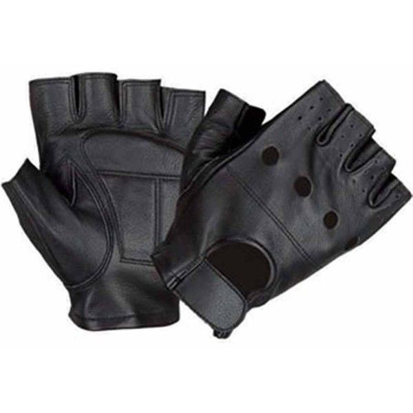 Allstate Leather Lambskin Leather Fingerless Motorcycle Gloves with... (82 SAR) ❤ liked on Polyvore featuring men's fashion, men's accessories, men's gloves, mens motorcycle gloves, mens leather motorcycle gloves, mens fingerless leather gloves, mens fingerless gloves and mens leather gloves