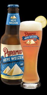 "Pyramid Hefeweizen - my favorite beer!  A Mariner's pre-game necessity as well with some nacho's.  I refused to call it ""Haywire"", and rightfully so, as they switched it back to good ole Pyramid Hef.  Yum."