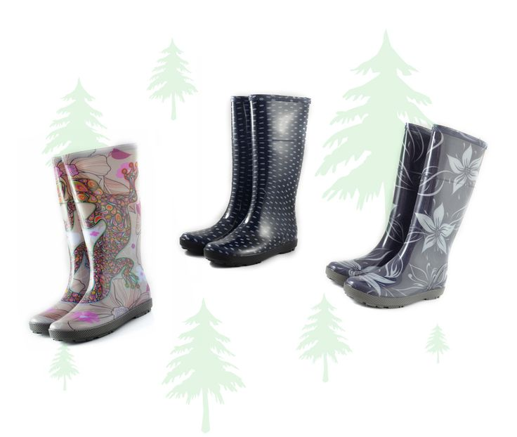 #Wellington #boots for #ladies , super #patterns !, #soft and #comfortable. Great for walking in #rainy days and for #mushroom #picking !