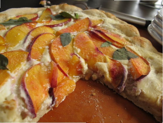 Peach Pizza and the Best Pizza Dough