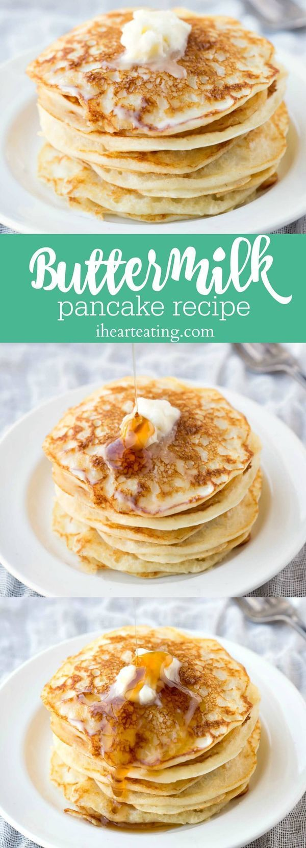 Buttermilk Pancake Recipe - classic light and fluffy breakfast recipe.