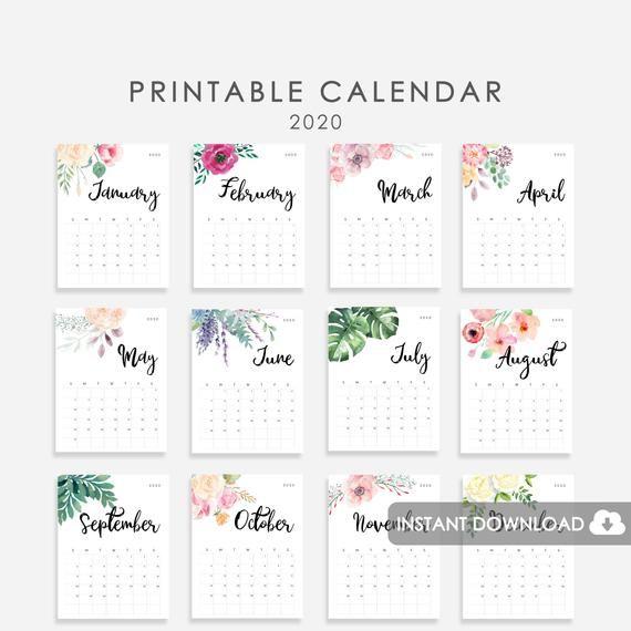 Calendario 2020 Excel Mensual.2020 Calendar Printable Desk Calendar 2020 2020 Wall