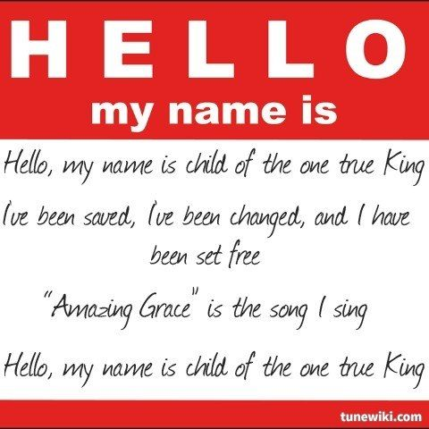 Hello my name is...SING IT MATTHEW!