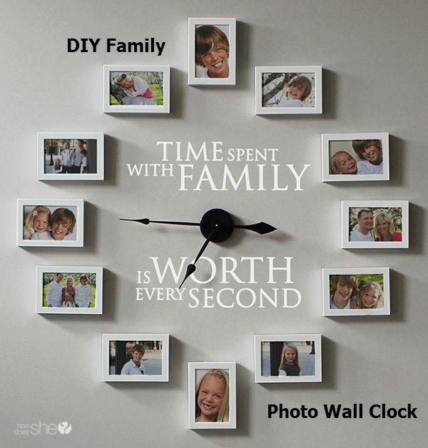 DIY Family Photo Wall Clock