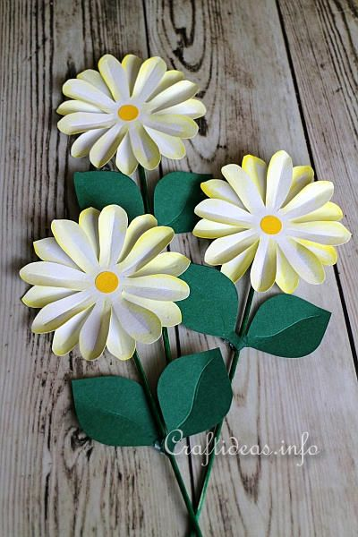 Paper Craft for Summer and All Occasions - Paper Daisy Plant Poke