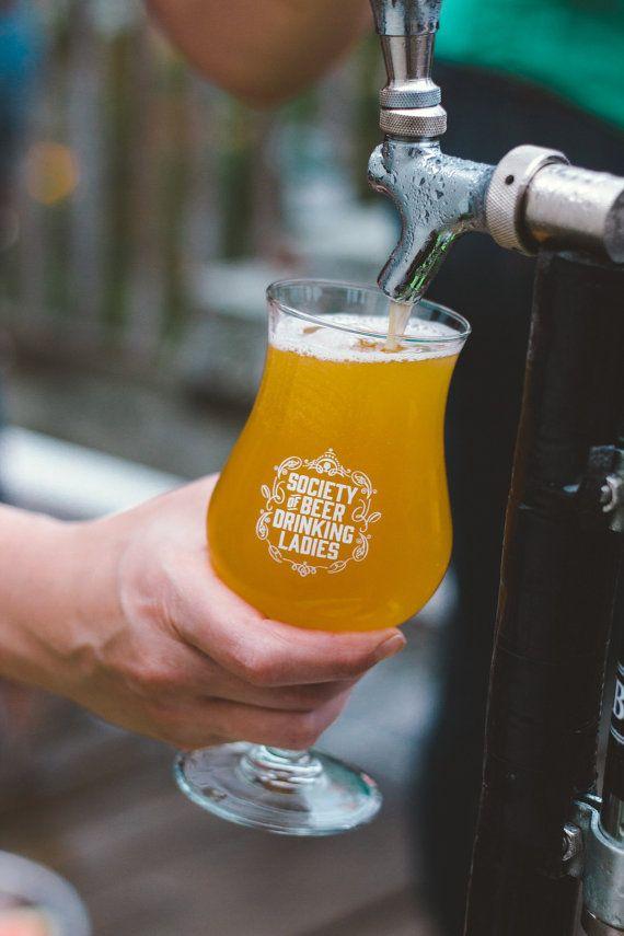Society of Beer Drinking Ladies™ Tulip Glass by ladiesdrinkbeer