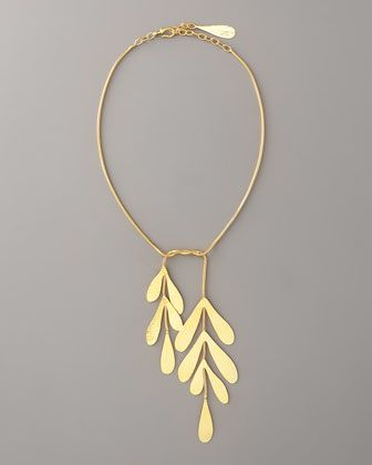 "Coral Tie Necklace, 18""L by Herve Van Der Straeten at Neiman Marcus."