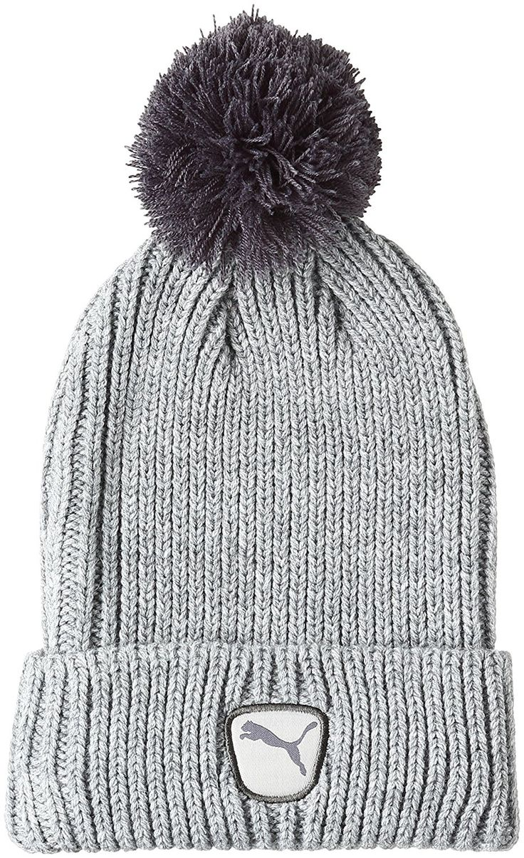 Take a retro look to the golf course this coming winter with this warm and cozy womens cat patch 2.0 golf beanie hat by Puma!