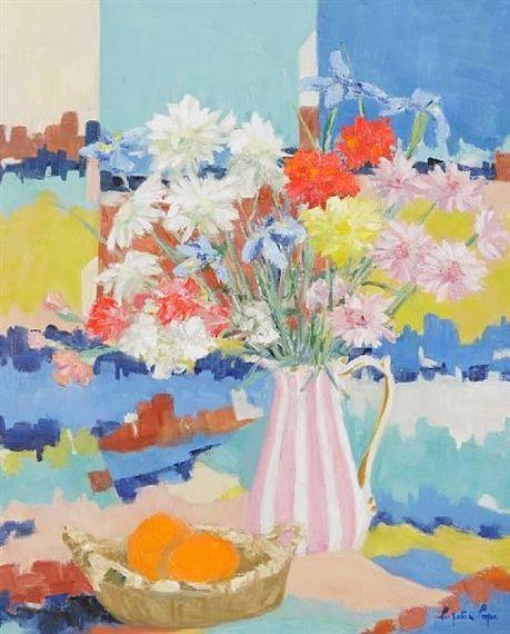 Lot Number: 180 Mixed flowers Dimensions: 59 x 49cm  Medium: Oil on canvas Signed  Realized Price: 780 GBP Bonhams Edinburgh Selected Art & Antiques  Sale Number: 18787 Date: Mar 23, 2011 http://www.zaidan.ca/Art_Gallery/Perpetua_Pope/Perpetua-Pope.htm