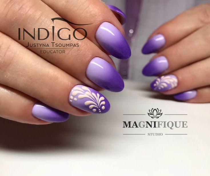 Indigo Nails ombre lila Sommer Nail Art