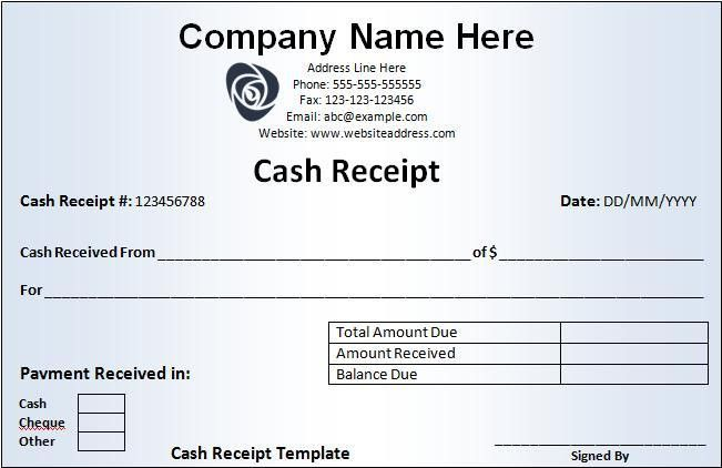 Cash receipt template free word templates Free Word Templates #SampleResume #ReceiptForms