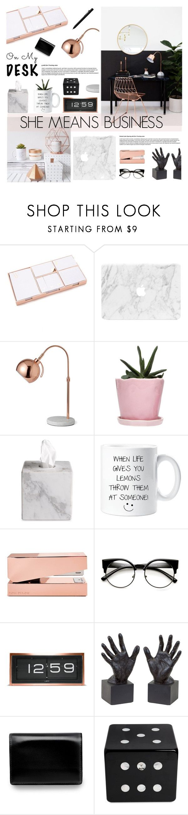 """""""Business"""" by fee4fashion ❤ liked on Polyvore featuring interior, interiors, interior design, home, home decor, interior decorating, Kate Spade, Dot & Bo, Waterworks and Tom Dixon"""
