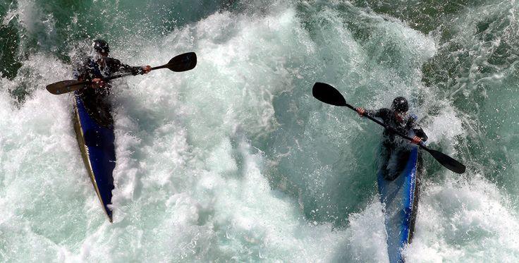 Canadier Tour auf der Saalach in Bad Reichenhall Bayern #Bootsfahrt #Abenteuer #Wassersport