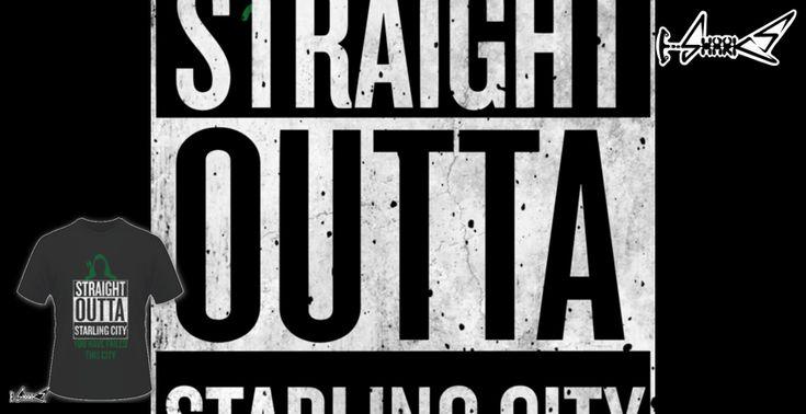 Magliette+Straight+Outta+Starling+City+-+Disegnato+da+:+Chesterika