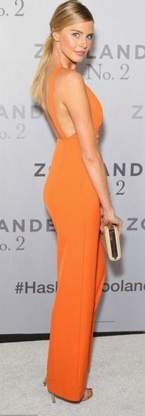 #summer #kookai #australia #outfits   Tegan Martin in Orange Jumpsuit