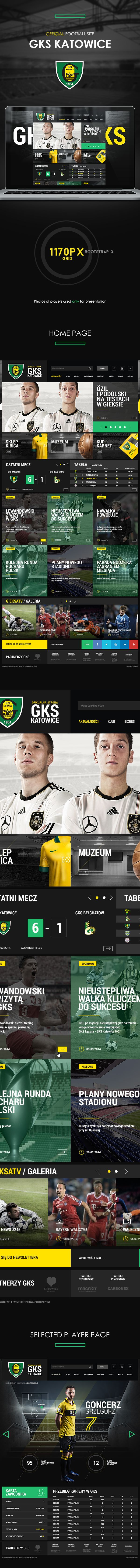 Official Football Site - GKS Katowice by Karol Kos, via Behance