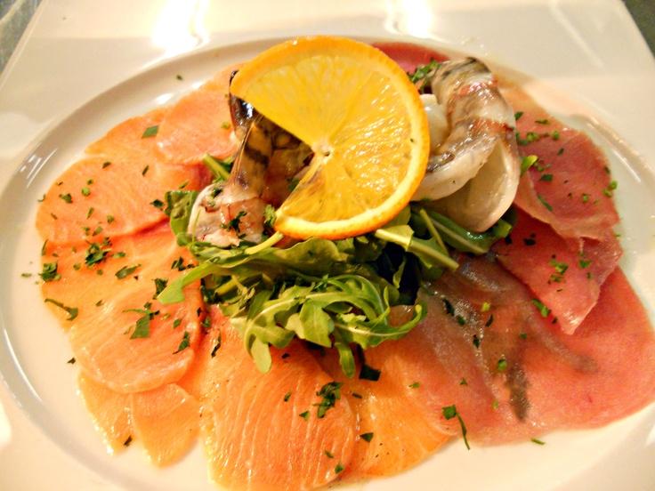 Carpaccio di pesce fresco