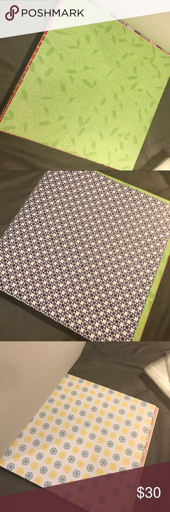 Scrap booking supplies! Assortment of scrapbooking paper and 13 clear scrapbook inserts. Over 100 sheets of scrapbooking paper. Open to offers Other