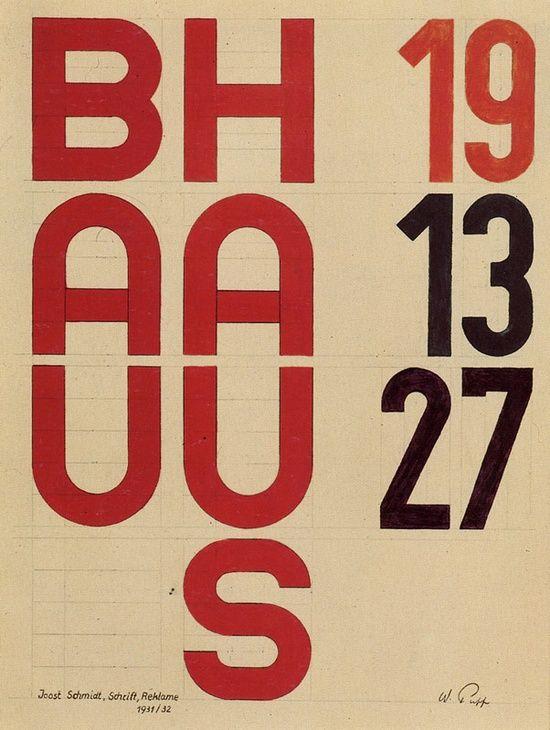 Joost Schmidt, Bauhaus typography, 1931