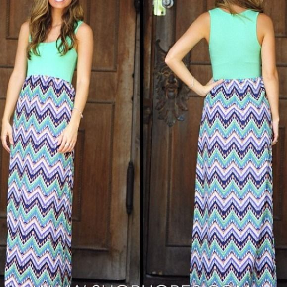 Adorable Aztec Maxi Dress This dress is SO comfortable with a pretty colorful Aztec pattern. Only worm once. Lose/stretch fit. Dresses Maxi