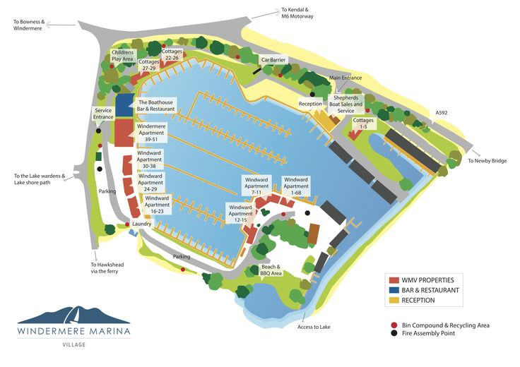 Windermere Marina Map   Windermere Marina Village