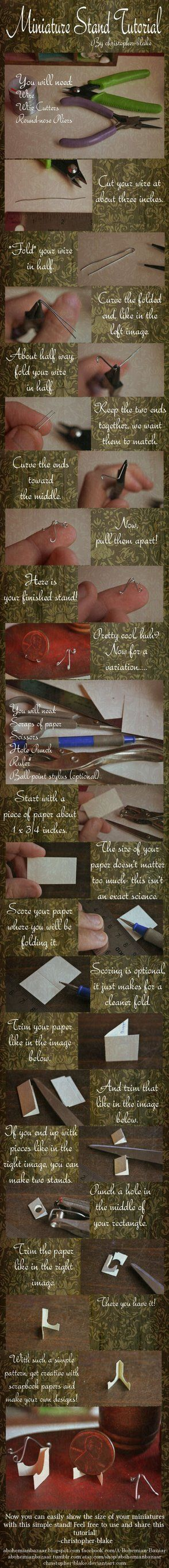 Miniature Stand Tutorial (For Pennies or Plates) by *abohemianbazaar on deviantART