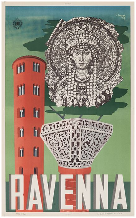 Ravenna, Gastone Celada 1947 [ #ravenna #myRavenna #illustrator #vintage #posters]