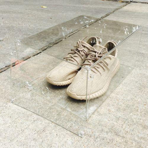 Luxury-Sneaker-Display-Box-with-Magnet-Drop-Front-Door-100-Clear-360-View