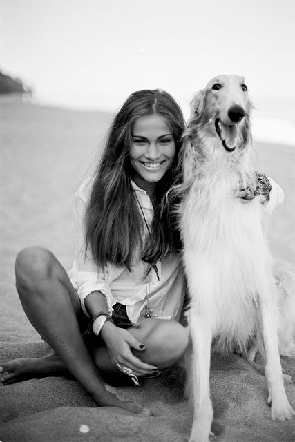 a pretty girl and a smiling dog. :)